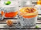 Рецепта Десерт от чиа, мляко, печена тиква, канела и мед
